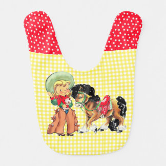 Cowgirl Kid With Horse Bib