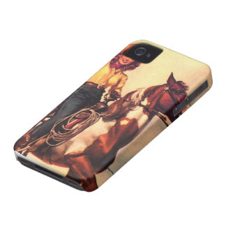 Cowgirl on Her Horse iPhone 4 Case-Mate Case