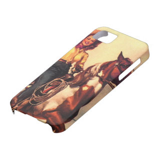 Cowgirl on Her Horse iPhone 5 Cases