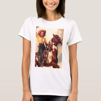 Cowgirl on Her Horse T-Shirt