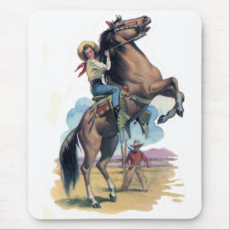 Cowgirl on Horse Mouse Mat