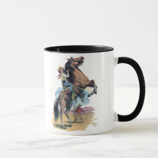 Cowgirl on Horse Mug