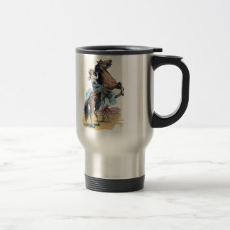 Cowgirl on Horse Travel Mug
