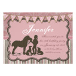 Cowgirl on Pink Custom Invitations