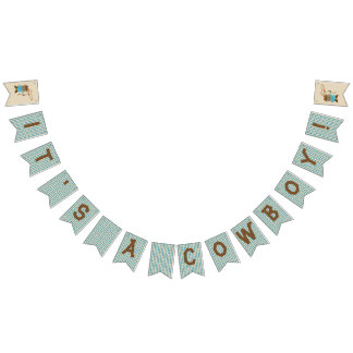 Cowgirl or Cowboy Gender Reveal Bunting Flags