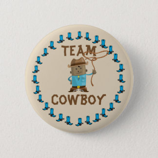 Cowgirl or Cowboy Gender Reveal Team Button
