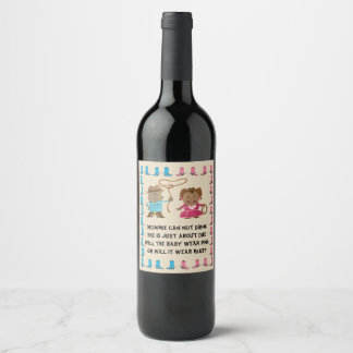 Cowgirl or Cowboy Gender Reveal Wine Label