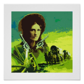 Cowgirl Outlaw Misfit Lil Pop Art Poster