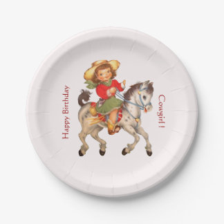 Cowgirl Party 7 Inch Paper Plate