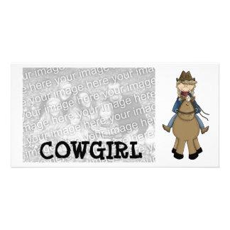 Cowgirl Photocard Card
