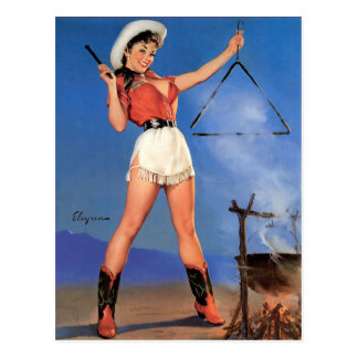 Cowgirl Pin-Up 1 Post Card