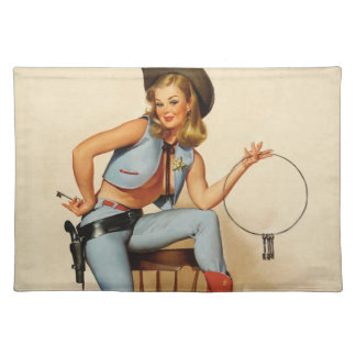Cowgirl Pin-up Girl Place Mats