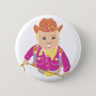 Cowgirl Pinback Button (caucasian)