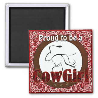Cowgirl Pride magnet