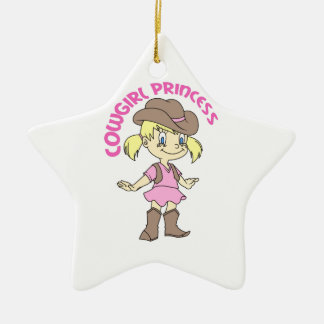 COWGIRL PRINCESS CHRISTMAS ORNAMENT