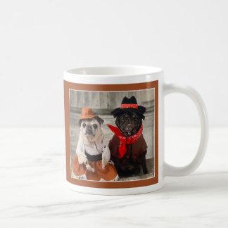 Cowgirl Pug and Cowboy Pug Mug by Pugs and Kisses