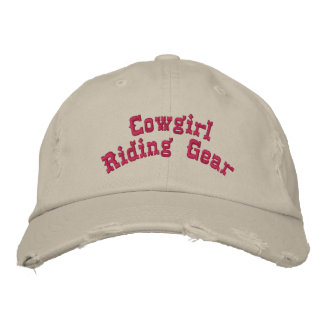 Cowgirl Riding Gear Embroidered Baseball Caps