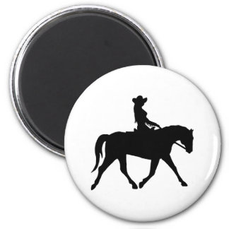 Cowgirl Riding Her Horse Magnet