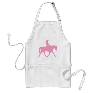 Cowgirl Riding Her Horse (pink) Standard Apron
