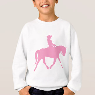 Cowgirl Riding Her Horse (pink) Sweatshirt