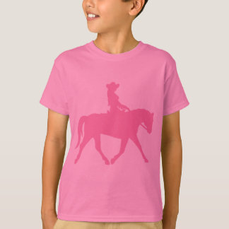 Cowgirl Riding Her Horse (pink) T-Shirt