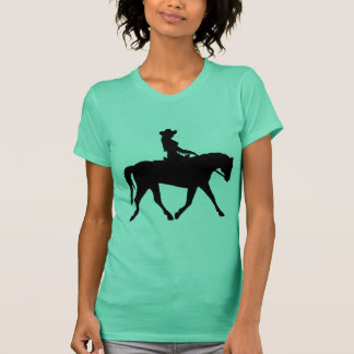 Cowgirl Riding Her Horse T-Shirt