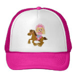 Cowgirl Riding Horse (pink)
