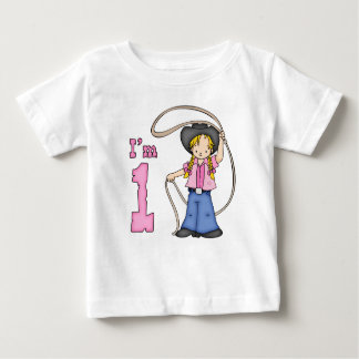 Cowgirl Roper 1st Birthday Baby T-Shirt