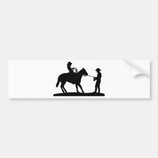 Cowgirl Roping Cowboy Bumper Sticker