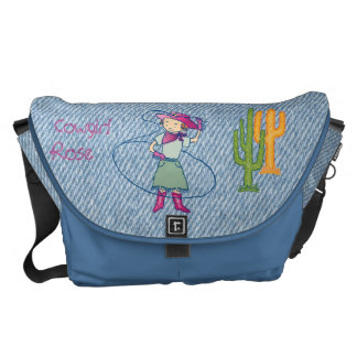Cowgirl Rose Rodeo Champ Lasso Tricks Courier Bag