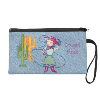 Cowgirl Rose Rodeo Champ Lasso Tricks Wristlet