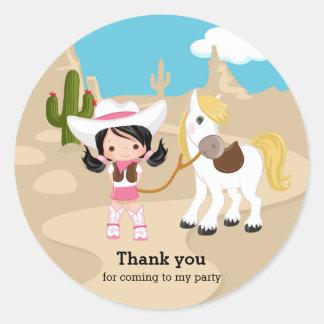 Cowgirl Round Sticker