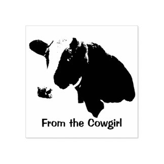 Cowgirl Sends a Message Rubber Stamp