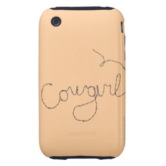 Cowgirl Sign iPhone 3 Tough Case
