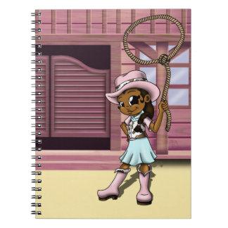 """Cowgirl"" Spiral Note Book"