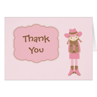 Cowgirl Thank You Card