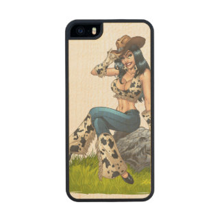Cowgirl Tipping Her Cowboy Hat Illustration iPhone 6 Plus Case