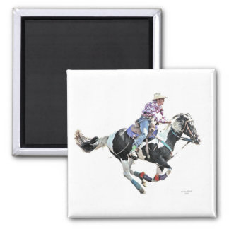cowgirl up mgnet square magnet