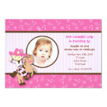 Cowgirl Western Photo Birthday Party Invitations