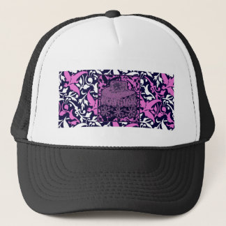 Cowgirl with Flowers Purple White Blue Trucker Hat