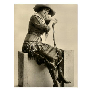 Cowgirl With Fringe Postcard