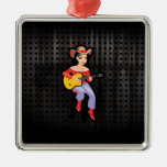 Cowgirl with Guitar; Black