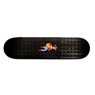 Cowgirl with Guitar Black Custom Skate Board