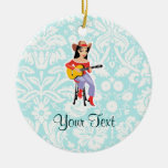 Cowgirl with Guitar; Cute