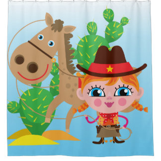 Cowgirl With Horse Shower Curtain
