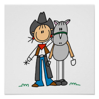 Cowgirl With Horse T-shirts and Gifts Poster