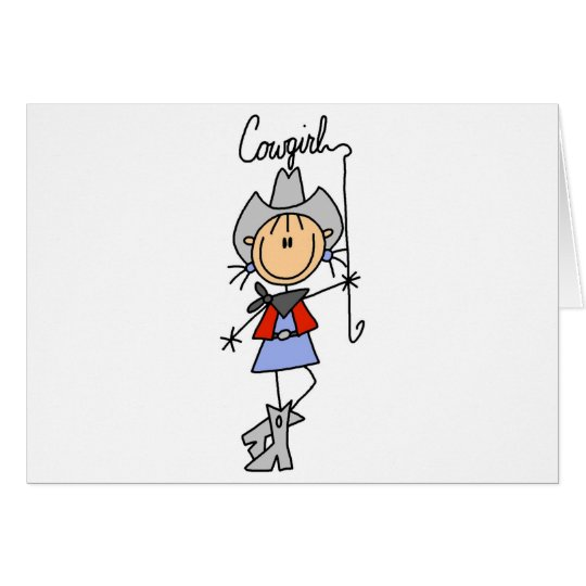 Cowgirl with Lasso Tshirts and Gifts Card