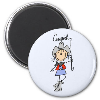 Cowgirl with Lasso Tshirts and Gifts Magnet