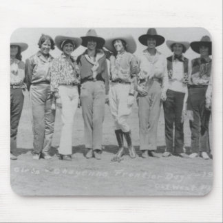 Cowgirls at Cheyenne Frontier Days, 1929. Mouse Mat