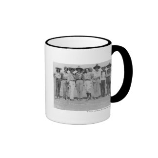 Cowgirls at Cheyenne Frontier Days, 1929. Ringer Mug